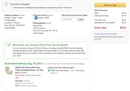 screenshot of a purchase made using the gift card