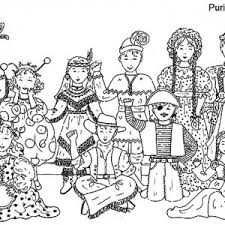 Purim Coloring Pictures 2637026