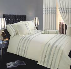 sets coverlets king bedroom fitted king bedspread with y white cream silver linear design bedspreads classy single or double