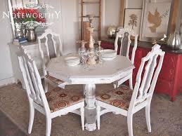 stylish white distressed dining room sets other chairs plain on in 4 distressed dining room chairs decor
