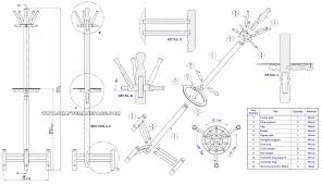 coat stand with umbrella holder assembly drawing parts list exploded view