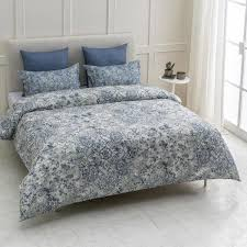 a1 home collections fiesta wrinkle resistant reversible print 100 organic cotton blue king duvet cover