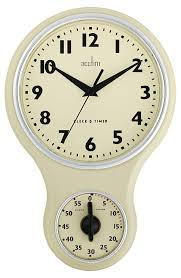 ... Clocks, Fascinating Kitchen Clocks Amazon Wall Clocks Modern White Clock  Retro Clock With Timer: ...