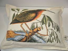 NEWPORT Luxury Luxe Bird Designer Throw Pillow Multi-Color Feather Filled-  INDIA