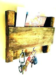 white wall mail holder