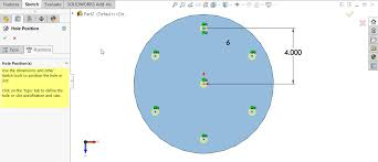Circular Pattern Solidworks Adorable SOLIDWORKS Hole Wizard With Circular Sketch Pattern