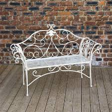 greenfingers ellecia 2 seater bench white