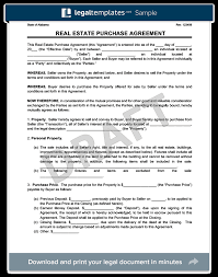 purchase agreement sample real estate purchase agreement create a free agreement
