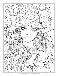 Small Picture Free Witch Coloring Page Halloween Coloring Pages by Molly