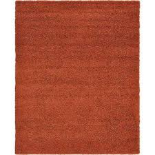 solid terracotta 8 ft x 10 ft area rug