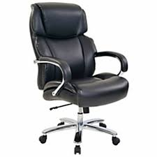 RealspaceR Brevington Bonded Leather HighBack Big Tall Executive Chair Black