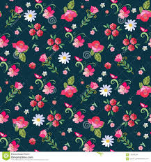 dark cute pattern wallpaper. Perfect Dark Cute Seamless Floral Pattern With Roses Mallow Daisies And Butterflies On  Darkblue For Dark Pattern Wallpaper