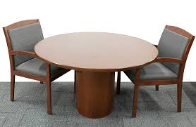 48 round wood cherry conference table