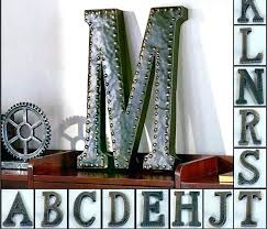 vintage large metal letters large metal letters metal wall letters vintage metal monogram initials industrial style wall hanging letters art decor metal