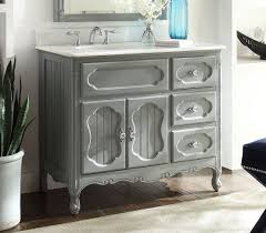 42 Bathroom Vanity 42 Inch Antique Cottage Bathroom Vanity Grey Finish White Marble