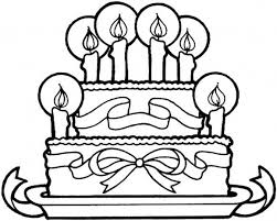 Small Picture Happy Birthday Coloring Pages Free Cake Birthday Coloring pages