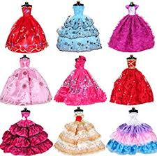 Doll Clothes Dresses for Barbie Girl Dolls 10 Pcs Lot ... - Amazon.com
