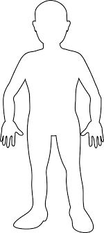 Small Picture Human Body Outline for Kids and Adult Pinterest