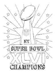 Super Bowl Champions Coloring Page For