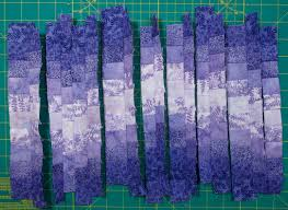 How To Make A Bargello From A Fabric Strip Run | Quilts By Jen & Sewing the Strips Together Adamdwight.com