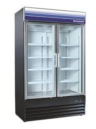 NORPOLE NPGR2-SB 2 Door 40 cu ft Glass Door Refrigerator ...
