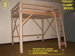 Lofted Queen Bed | Loft Beds for Teens | Twin Xl Loft Bed