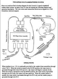 1965 chevrolet windshield wiper motor information chevytalk wiper motor wiring diagram there