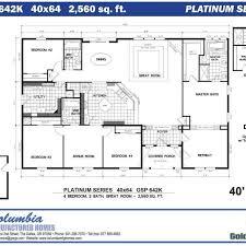 Model Ranch Style [ 4 Bedroom Modular Home Floor Plans