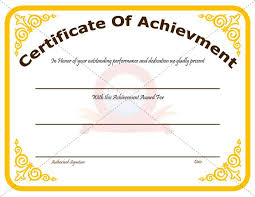 Performance Certificate Sample Outstanding Performance Award Certificate Certificate Of