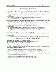 Manufacturing Supervisor Resume Beauteous Manufacturing Manager Resume
