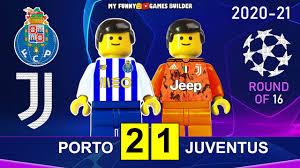 Porto vs Juventus 2-1 • Champions League 2021 • All Goals Highlights Porto  Juve Lego Football - YouTube