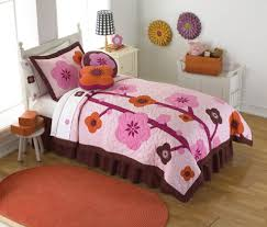 quilt sets flowers shades pink brown colored combine in rectangle bedding with square bedcover also