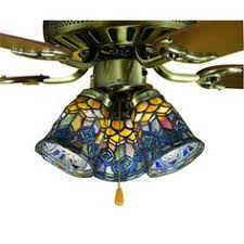 stained glass ceiling fan. Meyda Tiffany 1-Light Mahogany Bronze Ceiling Fan Light Kit With Stained Glass For The I
