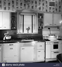 kitchen alamy modern interior sink and stove vintage style retro lights flooring colors liances house accessories cabinets curtains decor units sets fifties