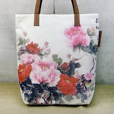chinese watercolor peony fl painting asina inspired printed