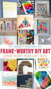 tps header frameworthy diy art projects and tutorials even kids can do these  on diy little girl wall art with remodelaholic 60 easy wall art ideas that even kids can make