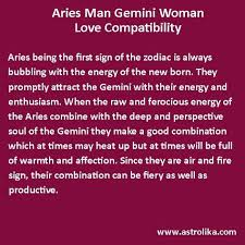 Aries Man And Gemini Woman Compatibility Chart Love Compatibility Between Aries Man And Gemini Woman At