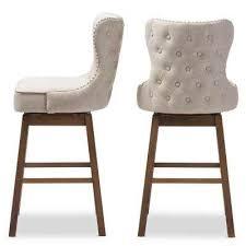 beige bar stools. Gradisca Gray Fabric Upholstered 2-Piece Bar Stool Set. Beige; Beige Stools