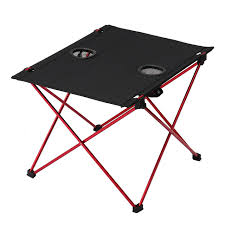 tomshoo outdoor aluminum foldable table portable collapsible picnic with carrying bag for camping fishing hiking collapsible picnic table u96