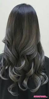 gunmetal gray bage hair