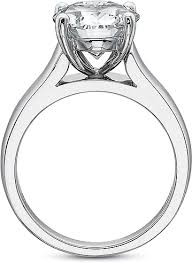 Precision Set Solitaire Wide Shank Diamond Engagement Ring 7812