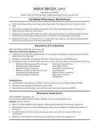 Entry Level Pharmacy Technician Resume Sample Monster Resume