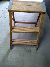 3 step wooden ladder 3 step wooden storage display ladder small 3 step wooden ladder