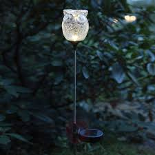 decorative solar lighting. Decorative LED Solar Light Owl, Broken Glass Look-1522984-01 Lighting Y