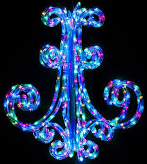 60cm chandelier multicolour led ropelight flashing outdoor party light