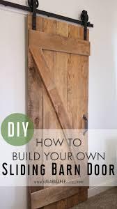 DIY Single Sliding Barn Door - SUGAR MAPLE notes