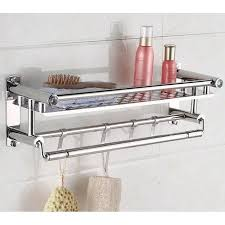 durable towel rack stainless steel wall