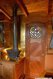 wood stove in small motorhome