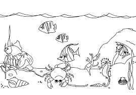 Small Picture Under the sea Coloring Page