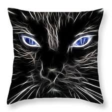 black cats with blue eyes for sale. Plain Sale Black Cat Blue Eyes Throw Pillow Featuring The Photograph Fantasy  By Paul Intended Cats With For Sale N